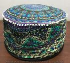 "Ottoman Cover Mandala Round Footstool Indian Pouffe Pouf Ethnic Decor 24"""