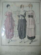 Mode Kleid Theatre Print 1900 Buzenet