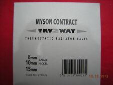 Myson 2TRVUS 10MM Angle Nickel 2 Voies TRV Robinet Radiateur Thermostatique