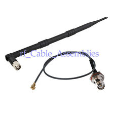 2.4GHz 9dBi Omni WiFi Antenna RP TNC male + RP TNC female - ixp/u.fl cable 15cm