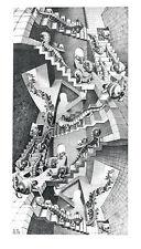 House of Stairs M. C. Escher Fantasy Weird Odd B&W Art Print Poster 17.75x31.25