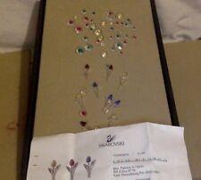 Swarovski Crystal Figurines. Set of 9 Crystal Tulips & About 38 Flower Blooms.