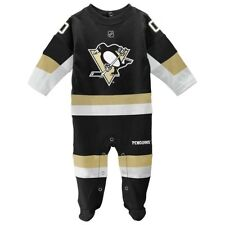 Pittsburgh Penguins NHL Newborn Black Long Sleeve Jersey Style Coverall
