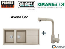 Lavello incasso Elleci Best 2 vasche e Miscelatore Lgb50051c02 116x51 Avena G51