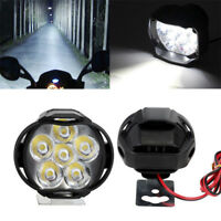 2× Spotlight Universal LED Motorcycle Headlight Mirror Mount Fog DRL +Switch