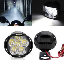 2×Spotlight Universal LED Motorcycle Headlight Mirror Mount Fog DRL + Switch Hot