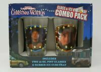 National Lampoon's Christmas Vacation Glass & Ice Cube Tray Combo Pack NIB NOS
