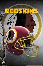 WASHINGTON REDSKINS - HELMET LOGO POSTER - 22x34 NFL FOOTBALL 15705