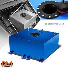 20 Gallon Lightweight Aluminum Blue Fuel Cell/Gas Tank+Level Sender Black Cap