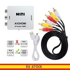 AV RCA A HDMI  Convertidor de Señal AV2HDMI CON CABLE RCA A RACA CABLE USB