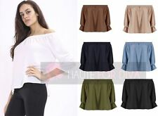 Waist Length Blouse Polyester Casual Tops & Shirts for Women