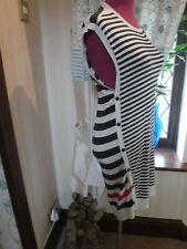 Stunning  All Saints Alna Striped Dress Size S (10) Excellent Condition