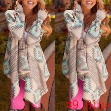 Women Irregular Waterfall Cardigan Sweater Poncho Shawl Coat Jacket Outwear Tops