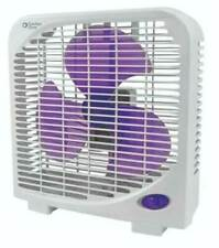 "Box Fan 9"" 2-Speed Portable Office Desk Home Cool Quiet Safe  PURPLE BLADES"
