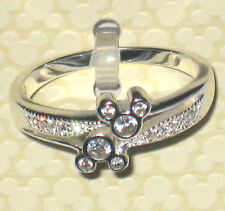 Crystal Gem✿Mickey Mouse Ring Sterling Silver .925 Disney World Authentic Size 6