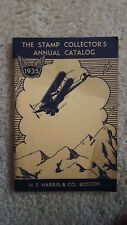 Vintage 1935 The Stamp Dealer'S Annual Catalog H E Harris Book Booklet