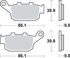 Par pastillas Brembo Sinter traseros Honda CBR 300f ABS 2014 - 2017