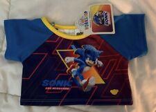 Nwt Build-A-Bear Sonic The Hadgehog 2020 T-Shirt