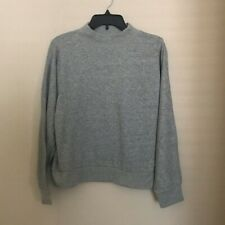Everlane French Terry Mock Neck Sweatshirt Grey SMALL