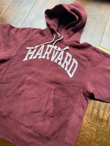 Vintage USA 80s Champion Reverse Weave Harvard College Hoodie Sweatshirt