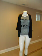 White Stag Women's 3/4 Sleeve Flyaway 2Fer Black/Gray Size:S(4-6) New with tag
