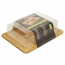 Bamboo Cheese Serving and Storage Board Case With Plastic Lid
