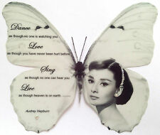 """Audrey Hepburn Black White Quote Print Butterfly  5""""  Decal Sticker 3D Hand Made"""