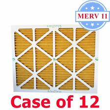 16x25x1 Air Filter MERV 11 Pleated by Glasfloss - Box of 12 - AC/Furnace Filters