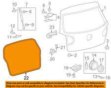 VW VOLKSWAGEN OEM 06-14 GTI Lift Gate-Weatherstrip Seal 1K6827705B9B9