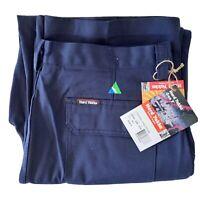 Hard Yakka Gen Y NWT Cotton Drill Cargo Trouser Size 107R Blue Work Wear Pants