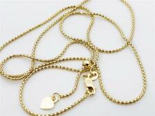 """14K 22"""" Inch Solid Yellow Gold ADJUSTABLE Popcorn Necklace Chain 1.3mm"""