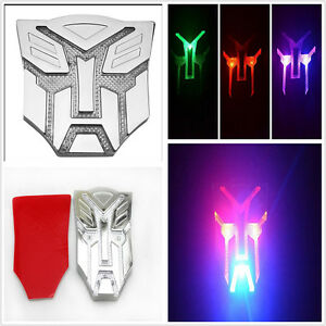 Transformers Autobots Solar Power LED Flash Emblem Strobe Warning Light Badge