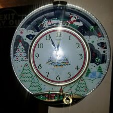 Seiko Melodies In Motion Christmas Musical Wall Clock Chimes Santa Reindeer