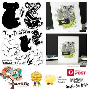 Koala Stamps & Dies, Friend, Sending Hugs, Hold On - Hero Arts Colour Layering