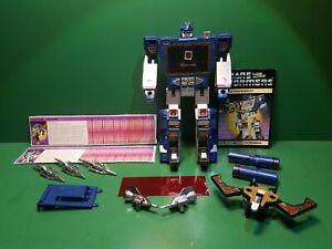 Soundwave & Buzzsaw Complete 1984 Vintage Hasbro G1 Transformers Action Figure