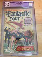 Fantastic Four #4 Stan Lee Jack Kirby CGC 3.0