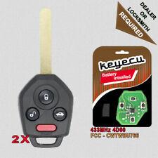 for Subaru Legacy 2009-14 Outback Upgraded Flip 433MHz Remote Key Fob CWTWB1U766