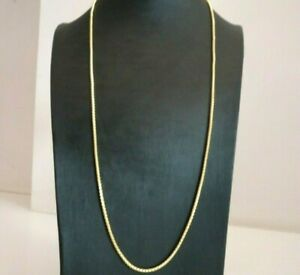 Chain Vintage Years' 70 Unoaerre Long Gold Solid 18K Necklace Jersey Tubular