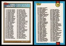 VINTAGE 1991 TOPPS HOCKEY CHECKLIST - # 1 OF 4 - NM/MT+ - UNMARKED - CARD # 132