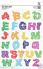 Large die 26 pcs Filigree Alphabet letters. Use Xcut or any die cutting machine