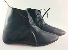 Medieval side lacing leather ankle boots reenactment LARP living history UKbased