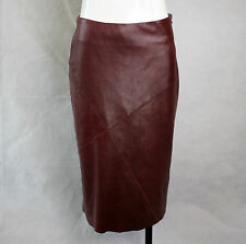 *UK 8* Burberry London Brown Leather Skirt