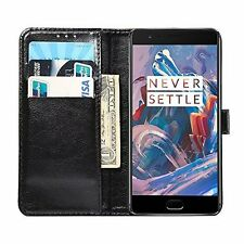 OnePlus 3T Case Cover Slim Soft Buff PU Leather Wallet  Classical Magnetic Snap