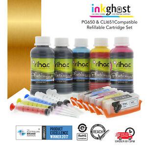 Refillable ink cartridge for Canon CLI-651 PGI-650 CLI651XL PGI650XL cartridges