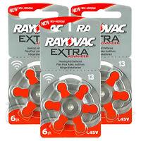 Rayovac Extra Hearing Aid 13 Size batteries * Zinc air * Mercury free x 60 cells