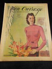 MON OUVRAGE 1939 n°398 smocks  drap ajourés pour orner armoire manteau bébé