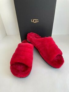 UGG Men's Fluff You Samba Red Slippers