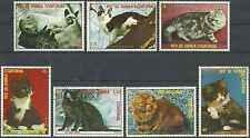 Timbres Chats Guinée équatoriale 123/PA114 o lot 23104
