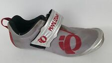 Pearl Izumi Mens 6.5 M Bicycling Shoes Tri Road 2 Silver Red Hook Loop Strap