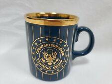 Counter Terrorism Training Group Blue & Gilt Gold Special Forces Coffee Tea Mug